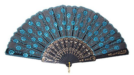 You can get this Peacock Pattern Sequin Fabric Hand Fan for just $1.68    FREE Shipping! - Hand Fan PNG