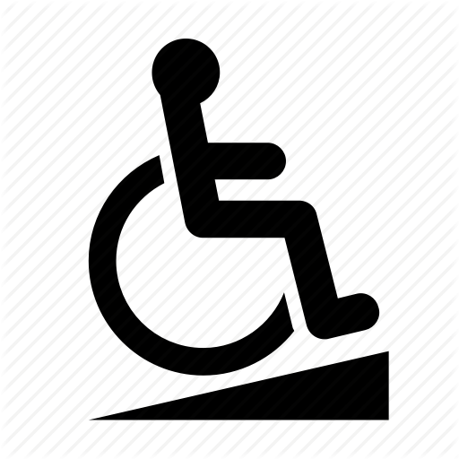 accessibility, disability, disabled, handicapped, ramp, sign, wheelchair  icon - Handicapped PNG HD