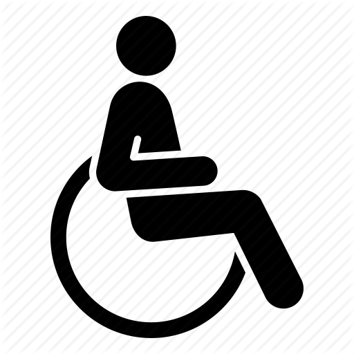 cripple, disabled, handicap, handicapped, invalid, patient, wheelchair icon - Handicapped PNG HD