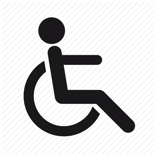 disabled, handicapped, handicapped person, medical, rolling chair icon - Handicapped PNG HD