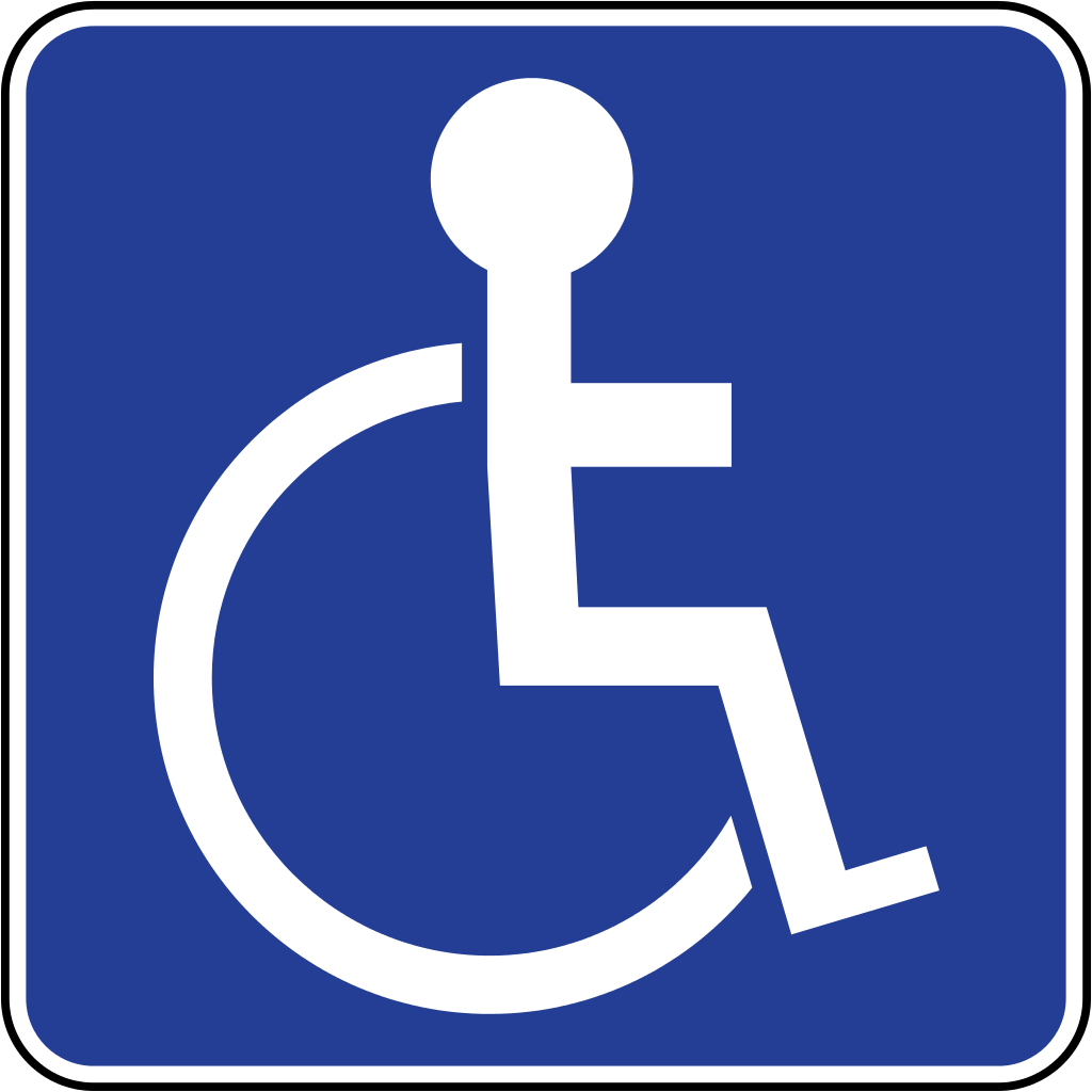 File:Brunei road sign - Disabled Parking.svg - Wikimedia Commons - Handicapped PNG HD