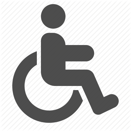 handicap, handicapped, man, sign, wheelchair icon - Handicapped PNG HD