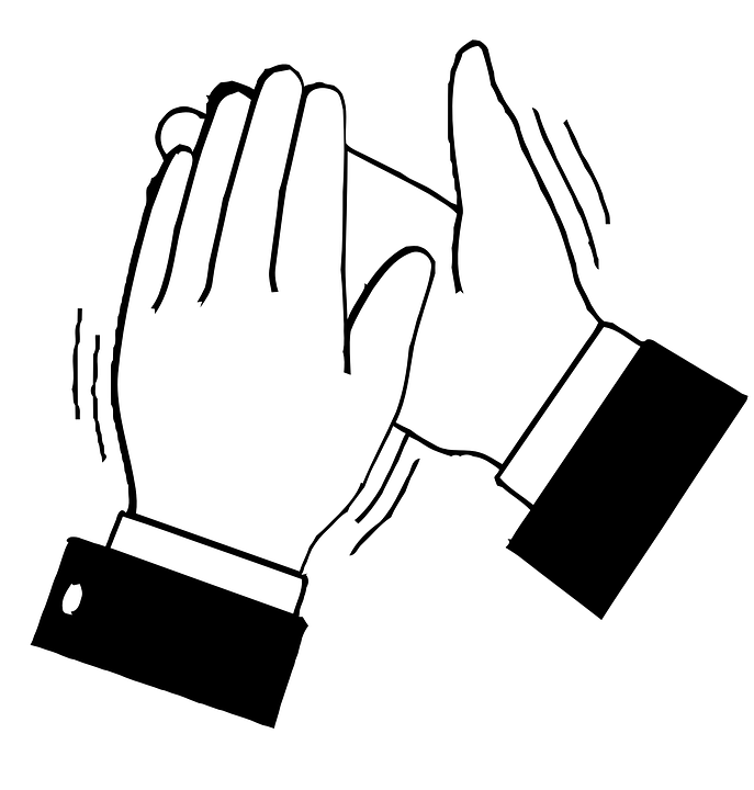 Applause, Clapping, Hands, Black, Bravo - Hands Clapping PNG HD