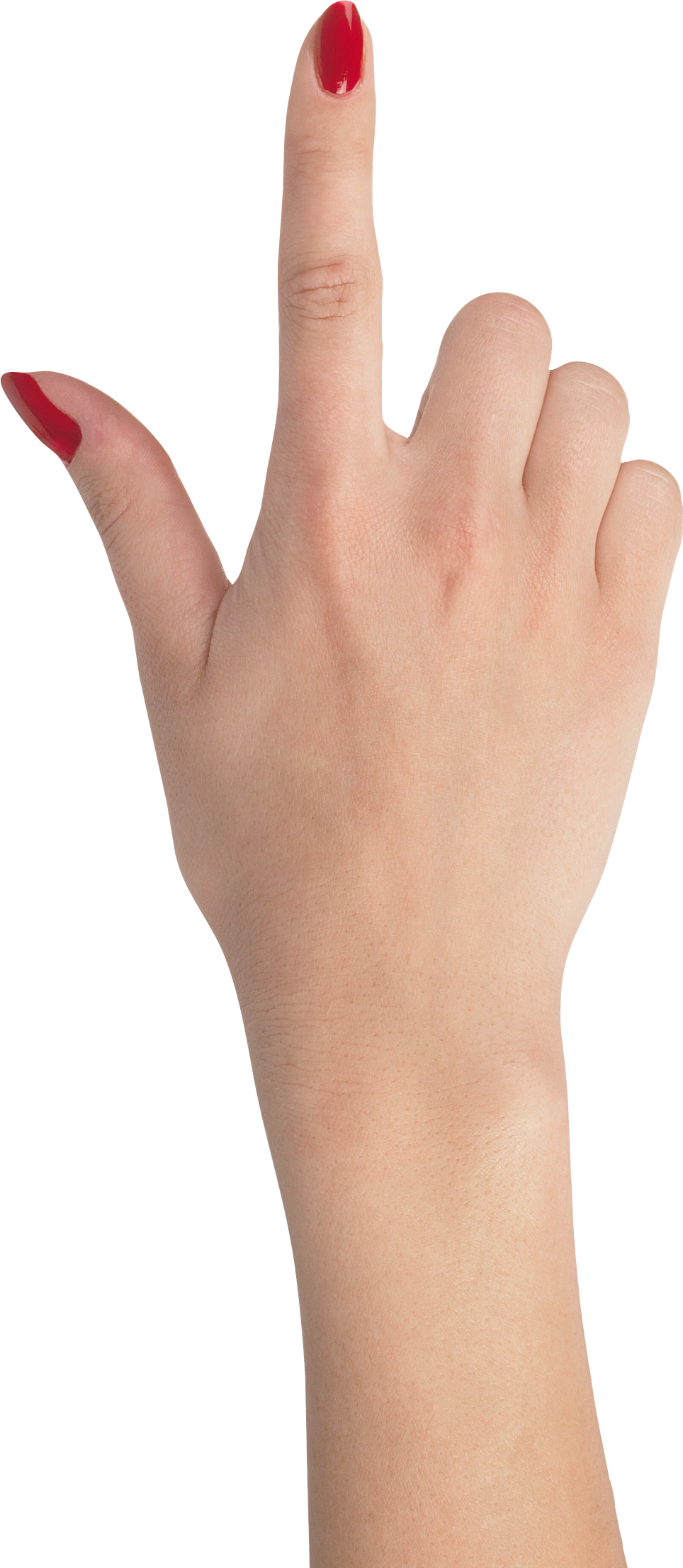 One finger hand with red nails, hands PNG, hand image free - Hands PNG
