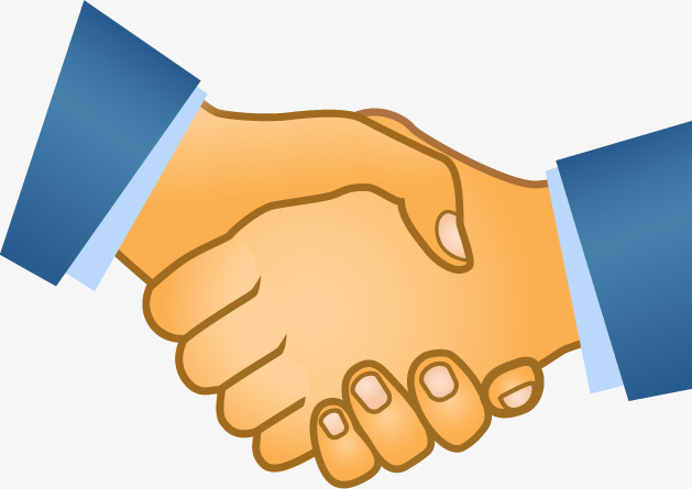Handshake Icon, Cartoon, Hand Painted, UI Free PNG and Vector - Handshake PNG HD