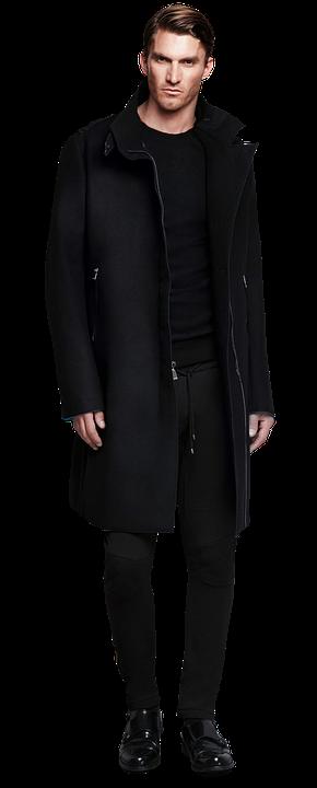 Man, In Black, Coat, Male, Handsome - Handsome Guy PNG