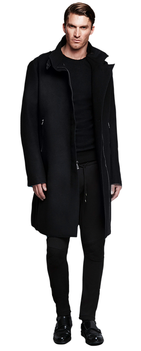 Man In Black Coat Male Handsome Adult Fash - Handsome Man PNG HD