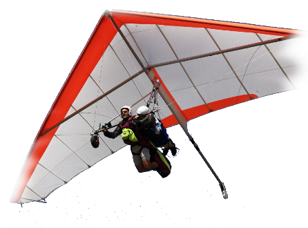Want to make a gift really original? Book for a friend or whoever you want  a fantastic flight hang gliding - Hang Gliding PNG