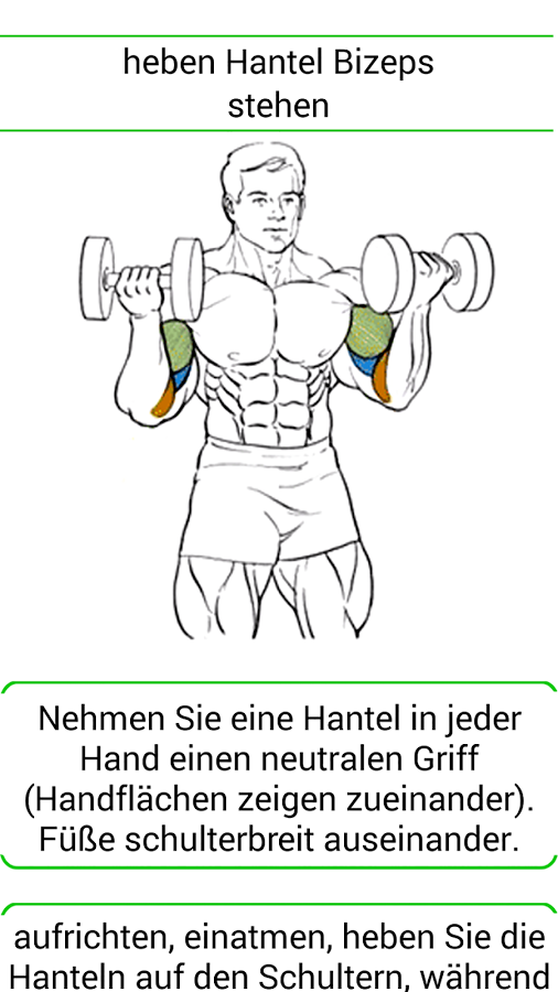 Fitness PRO u2013 Screenshot - Hanteln Heben PNG