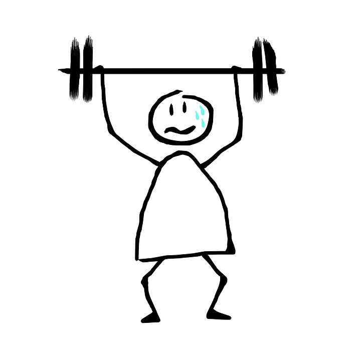 Heben Von Gewichten, Müdigkeit, Schweiß, Fitness-Studio - Hanteln Heben PNG