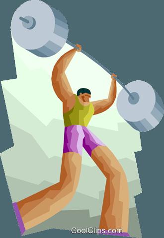 Sport, Heben Gewichtheber die Hantel Vektor Clipart Bild - Hanteln Heben PNG