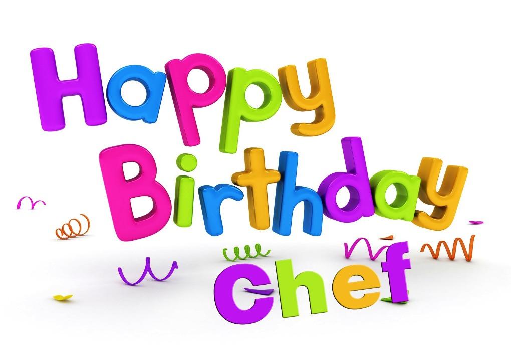 Happy Birthday Chef PNG