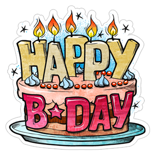 File:Happy B-Day.png - Happy Birthday Day PNG