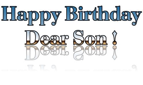 Happy Birthday Son PNG