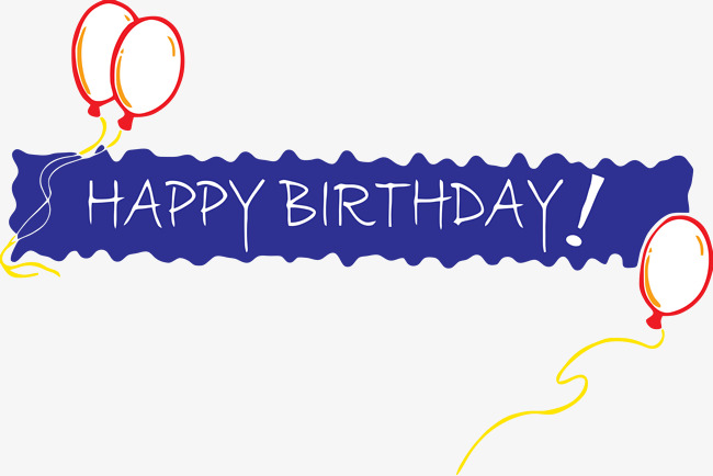 Happy Birthday Banner, Banner, Birthday, Blessing PNG Image and Clipart - Happy Birthday To You PNG