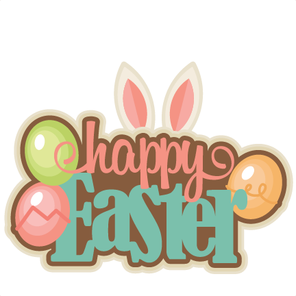 Happy Easter Title SVG cutting files for cricut silhouette pazzles free svg  cuts free svgs cut cute files for scrapbooking - Happy Easter Day PNG