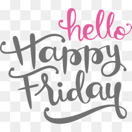 A handwritten happy Friday, Vector Png, Friday, Friday PNG and Vector - Happy Friday PNG