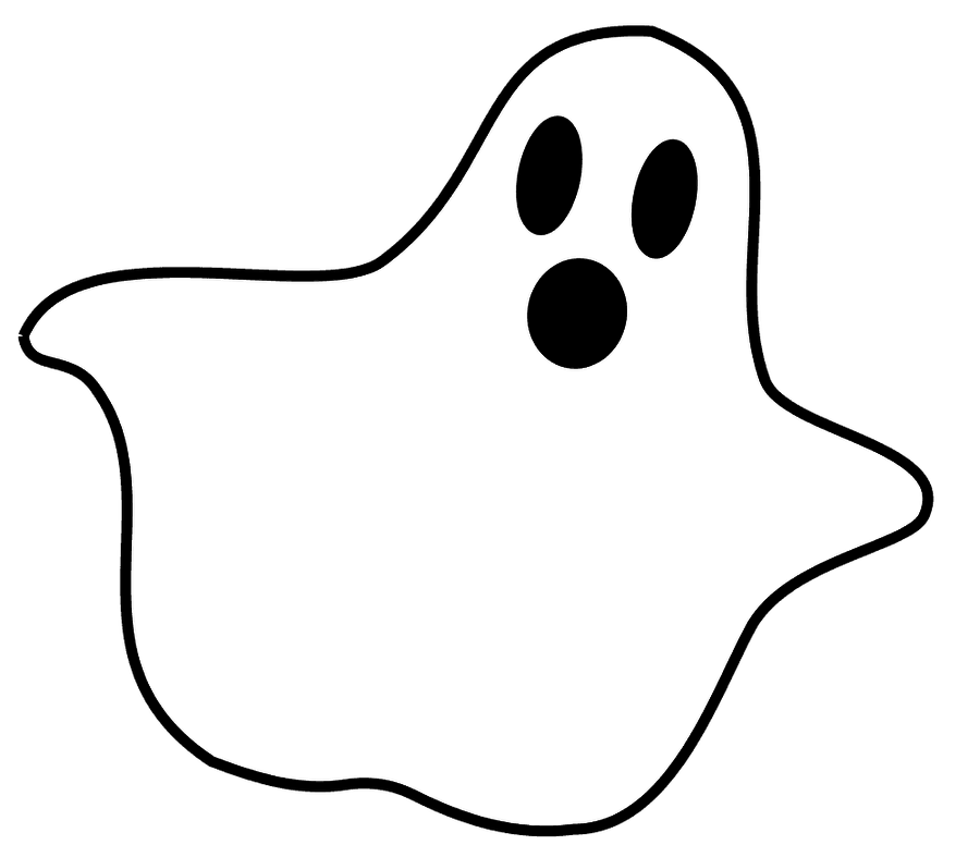 Ghost Clipart #6461 - Ghost PNG Black And White - Happy Ghost PNG HD