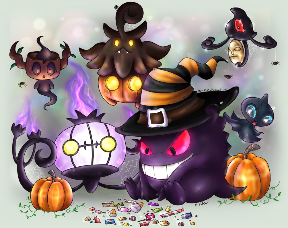 Happy Ghost-type Halloween by Mary1517 PlusPng.com  - Happy Ghost PNG HD