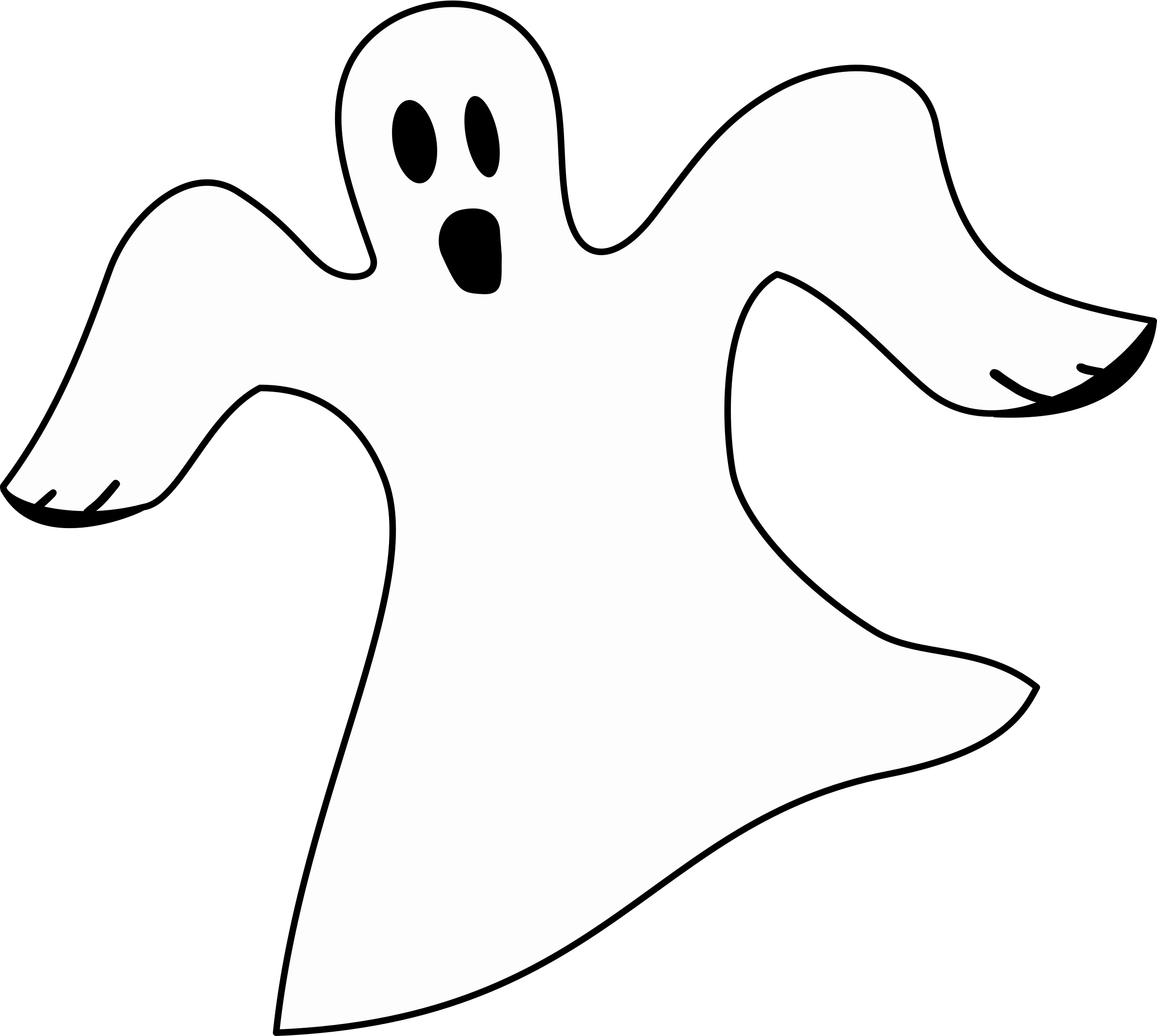 White Ghost Clipart - Ghost PNG Black And White - Happy Ghost PNG HD
