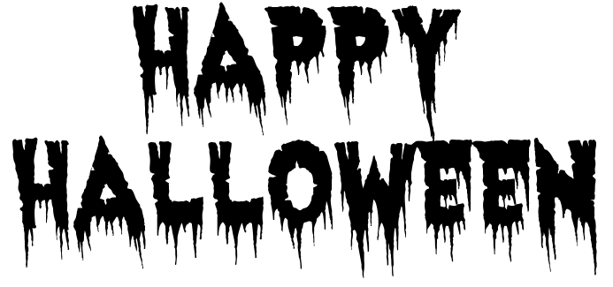 happy halloween haunted BW - /holiday/halloween /spooky_words/other_halloween/happy_halloween_haunted_BW.png.html - Happy Halloween PNG