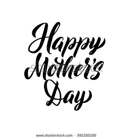 Happy Mothers Day Greeting Card Black Stock Vector (2018) 591200195 -  Shutterstock - Happy Mothers Day Sign PNG