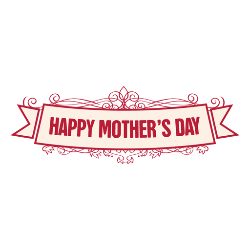 Mothers day ribbon badge 2 Transparent PNG - Happy Mothers Day Sign PNG