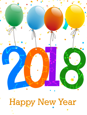 Happy New Year 2018 PNG - 85017
