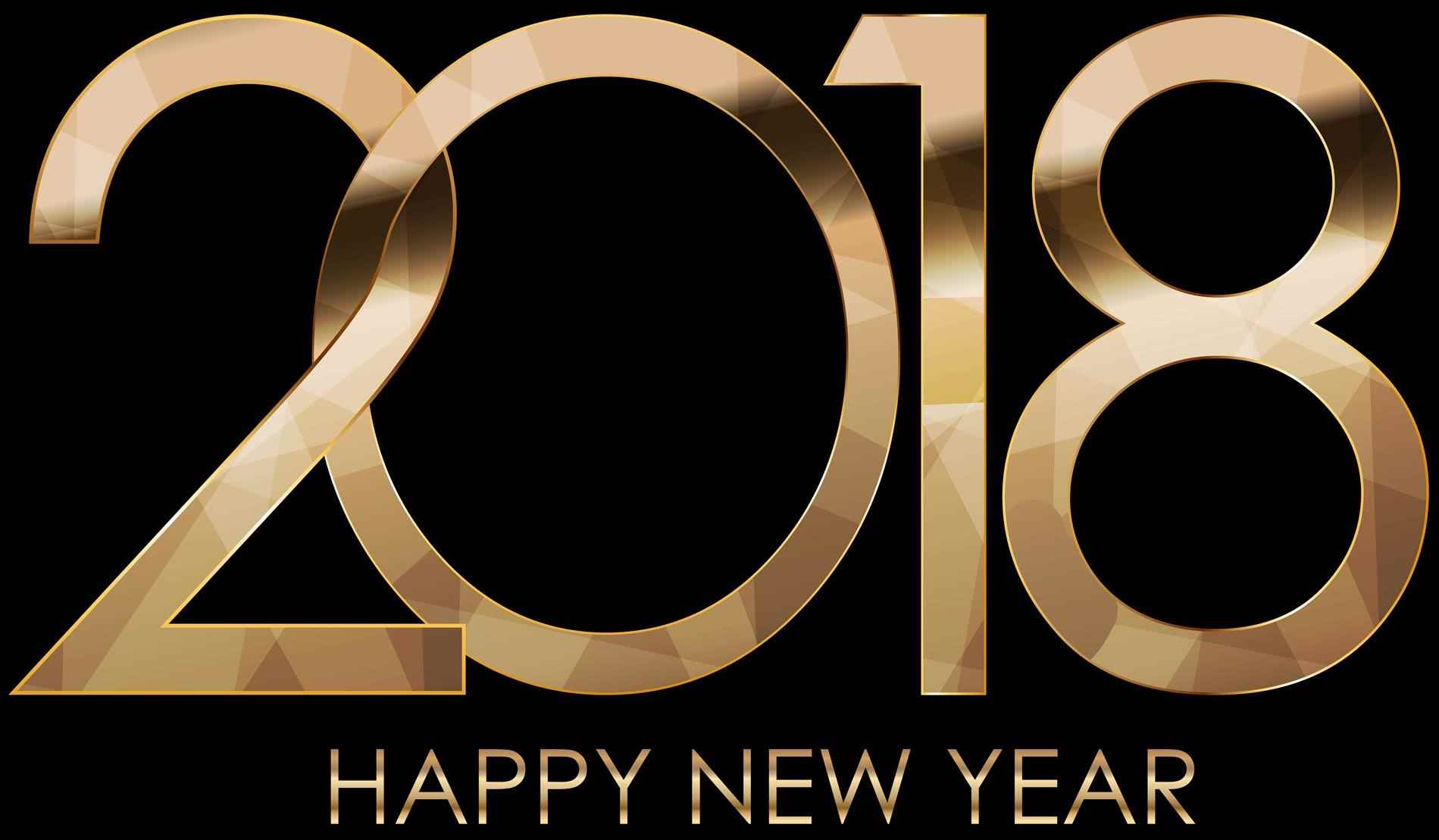 Happy New Year 2018 PNG - 85014