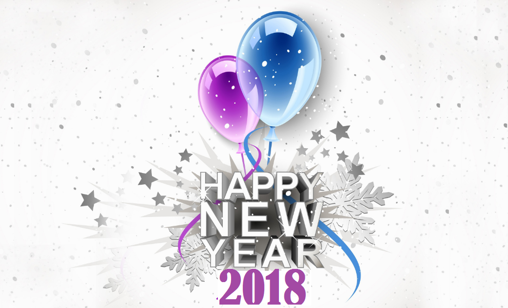 Happy New Year 2018 PNG - 85015