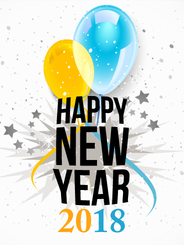 happy new year card 2018 happy new year 2018 png