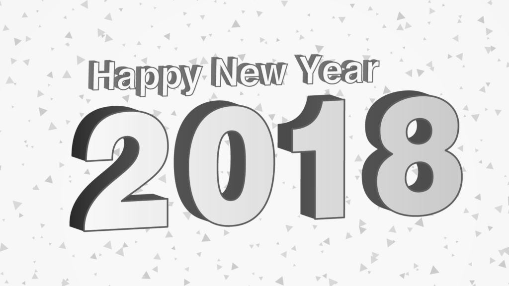 Happy New Year Party Coloring Pages 2018 - Happy New Year 2018 PNG