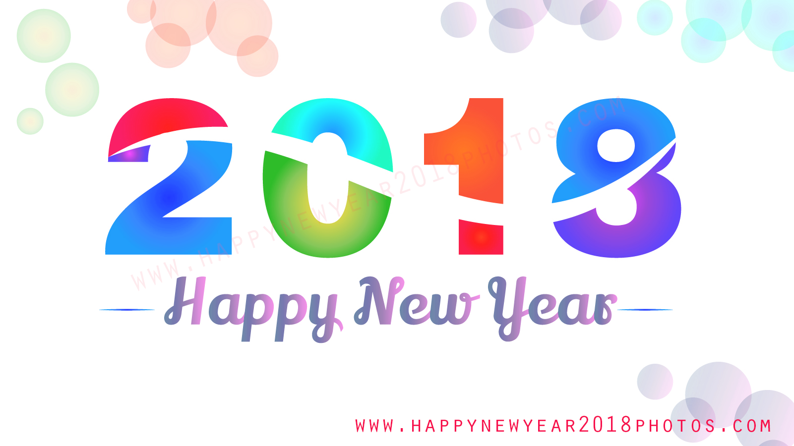 Happy New Year 2018 3d hd Fac