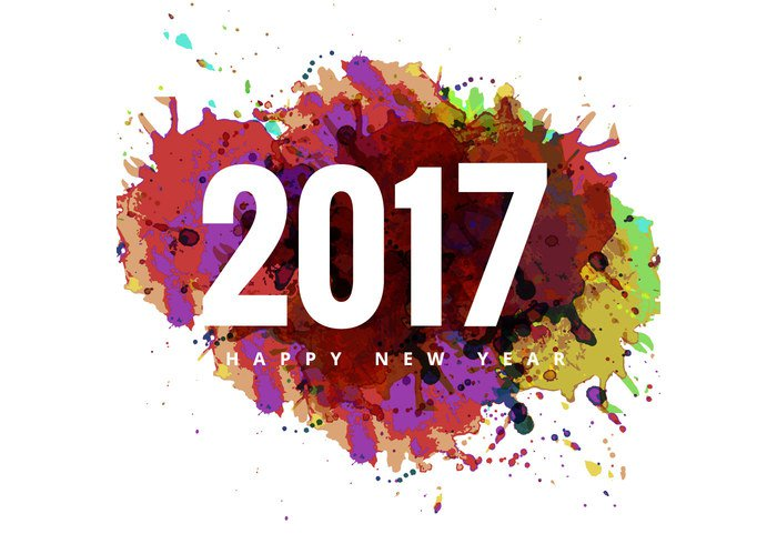 2017 Happy New Year Colorful Card image #28831 - Happy New Year PNG