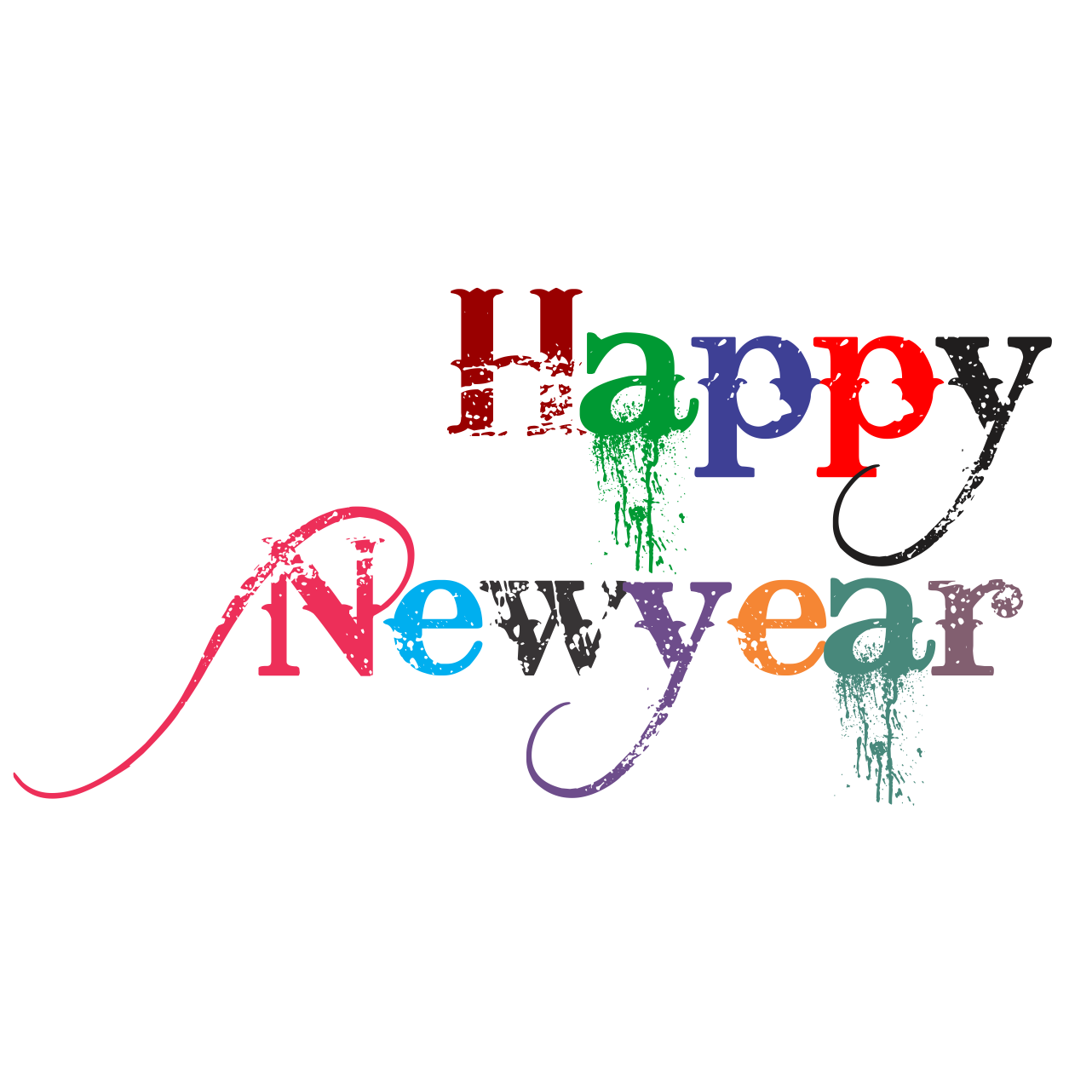 Happy New Year PNG - 20789