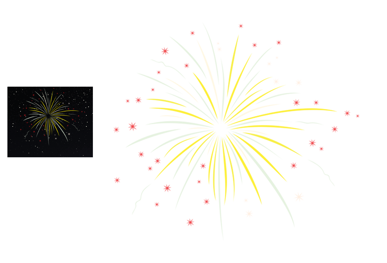 Happy New Year PNG Fireworks - 164402