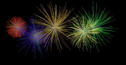 Happy New Year PNG Fireworks - 164404
