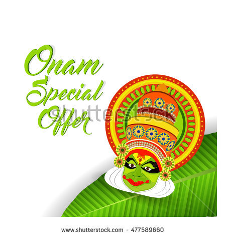 Happy Onam. Vector background