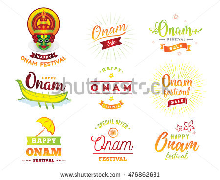 Happy Onam Banner With Flower