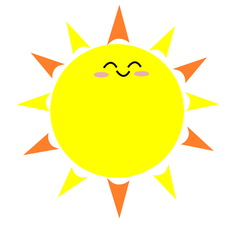 Happy Sun PNG No Background - 144368
