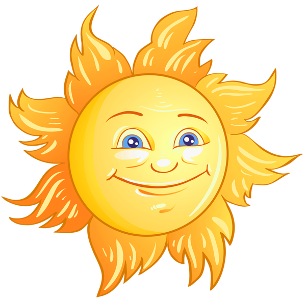 Happy Sun PNG No Background - 144360