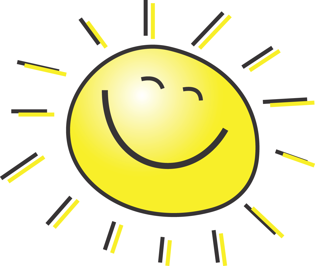 Free Summer Clipart Illustration Of A Happy Smiling Sun #00015 . - Happy Sun PNG No Background