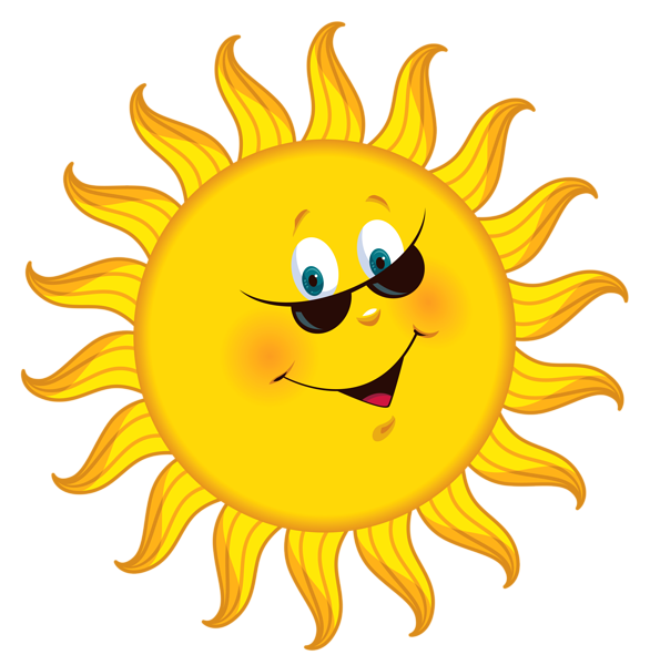 Happy Sun PNG No Background