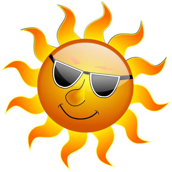 summertime clipart - Happy Sun PNG No Background