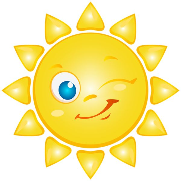 Happy Sun PNG No Background - 144359