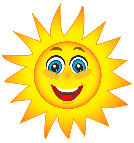 Happy Sun PNG No Background - 144358