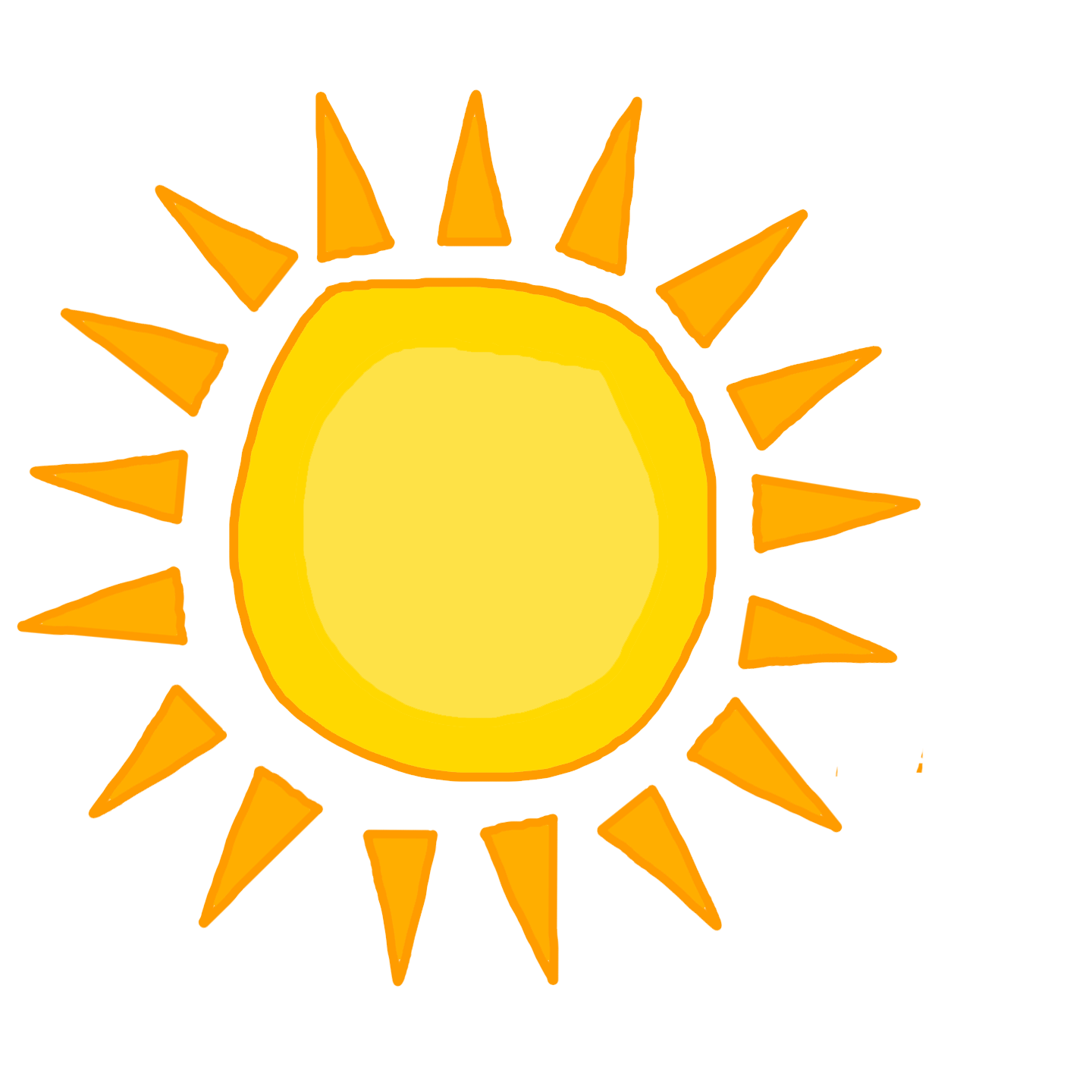 Happy Sun PNG No Background - 144362
