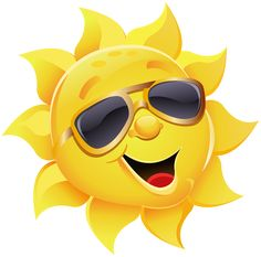 Sun with Sunglasses PNG Clipart Image - Happy Sun PNG No Background