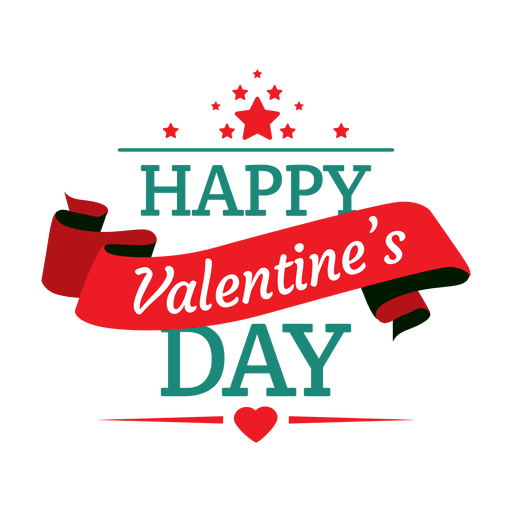 Happy valentines day emblem Transparent PNG - Happy Valentines Day PNG HD