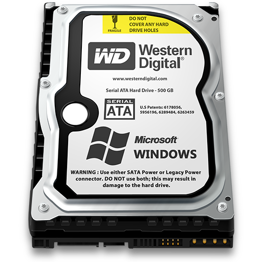 Windows Hard Drive Icon 512x512 png - Harddisk HD PNG